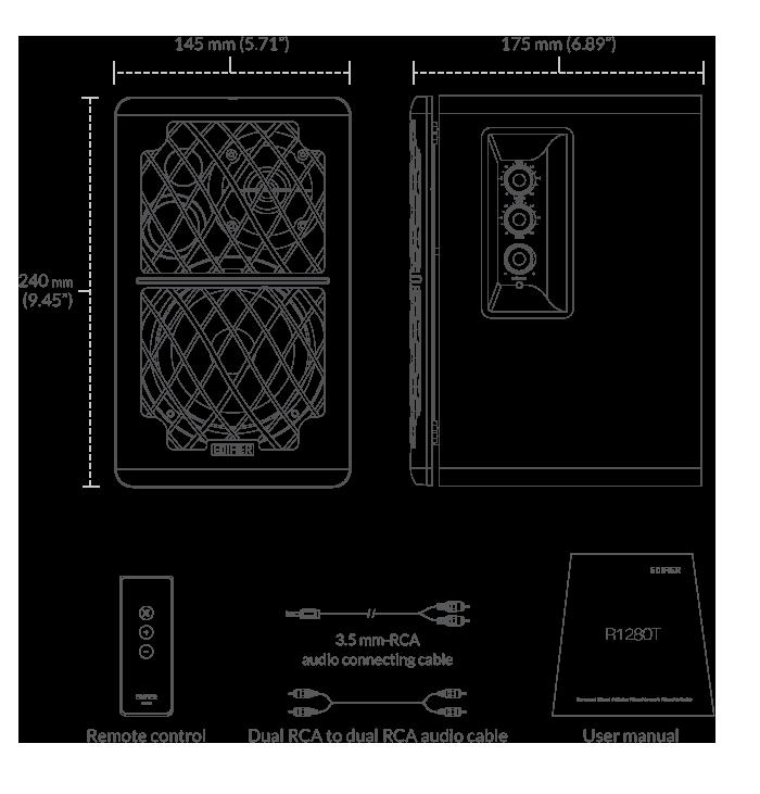 r1280t powered bookshelf speakers
