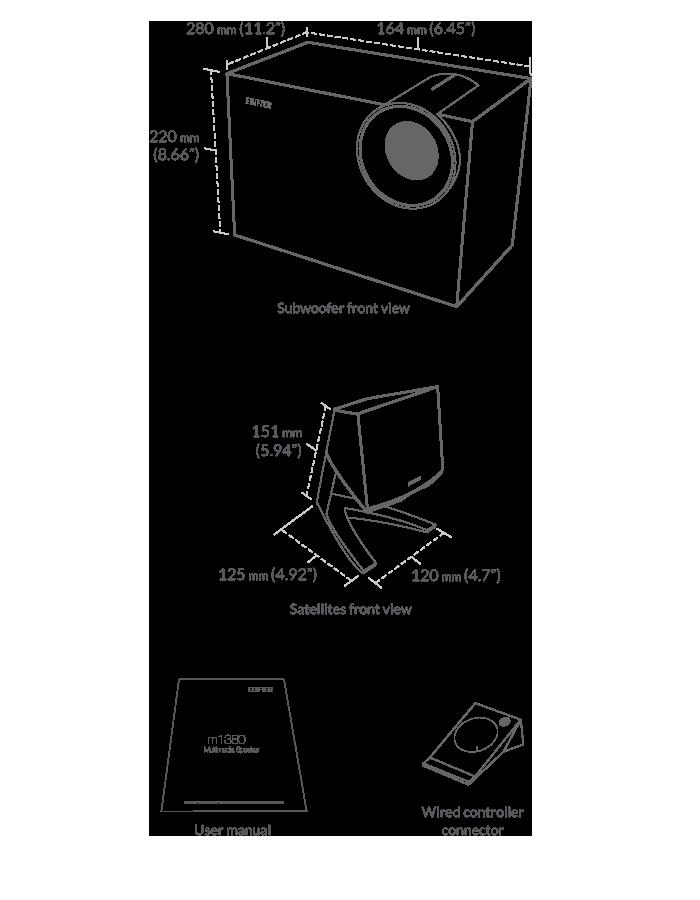 m1380 2 1 speaker subwoofer sound system