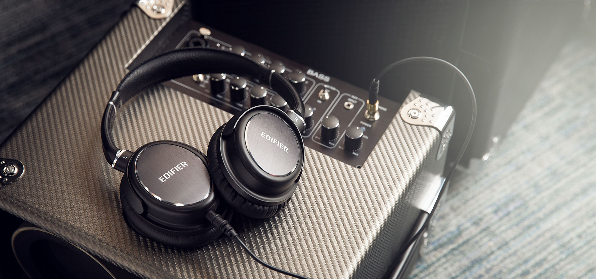 Headphones tuned by Phil Jones from Pure Sound are perfect for plugging into to an AMP