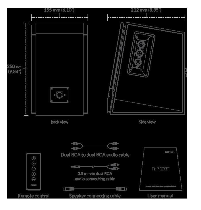 Edifier R1700BT Ηχεία Αυτοενισχυόμενα 66W Λευκά-Ασήμι 11