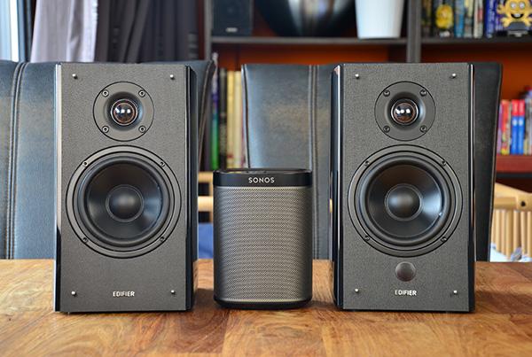 Techtesters review Edifier R2000DB vs Sonos Play:1