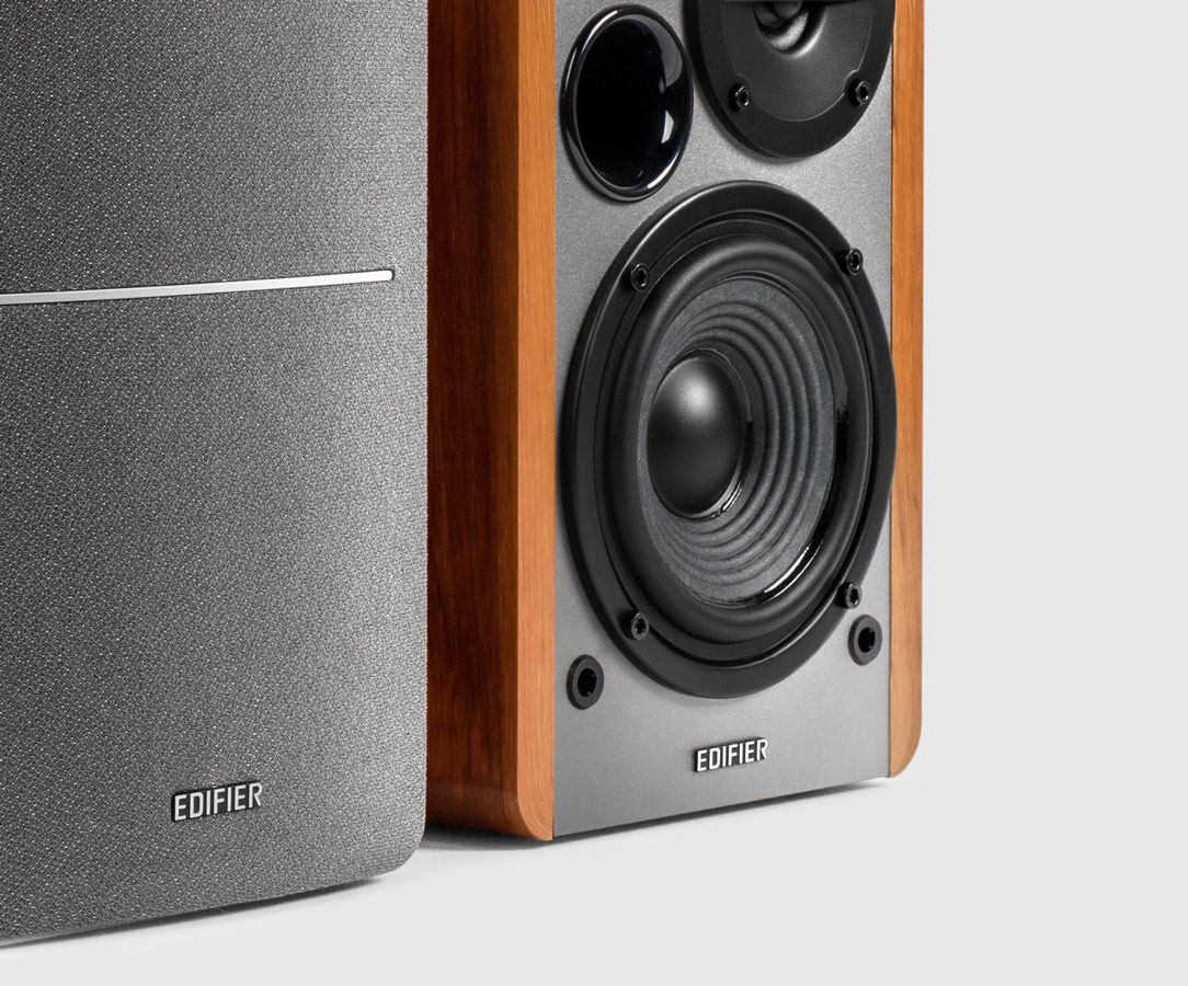 Reliable Performance The R1280T Powered Bookshelf Speakers