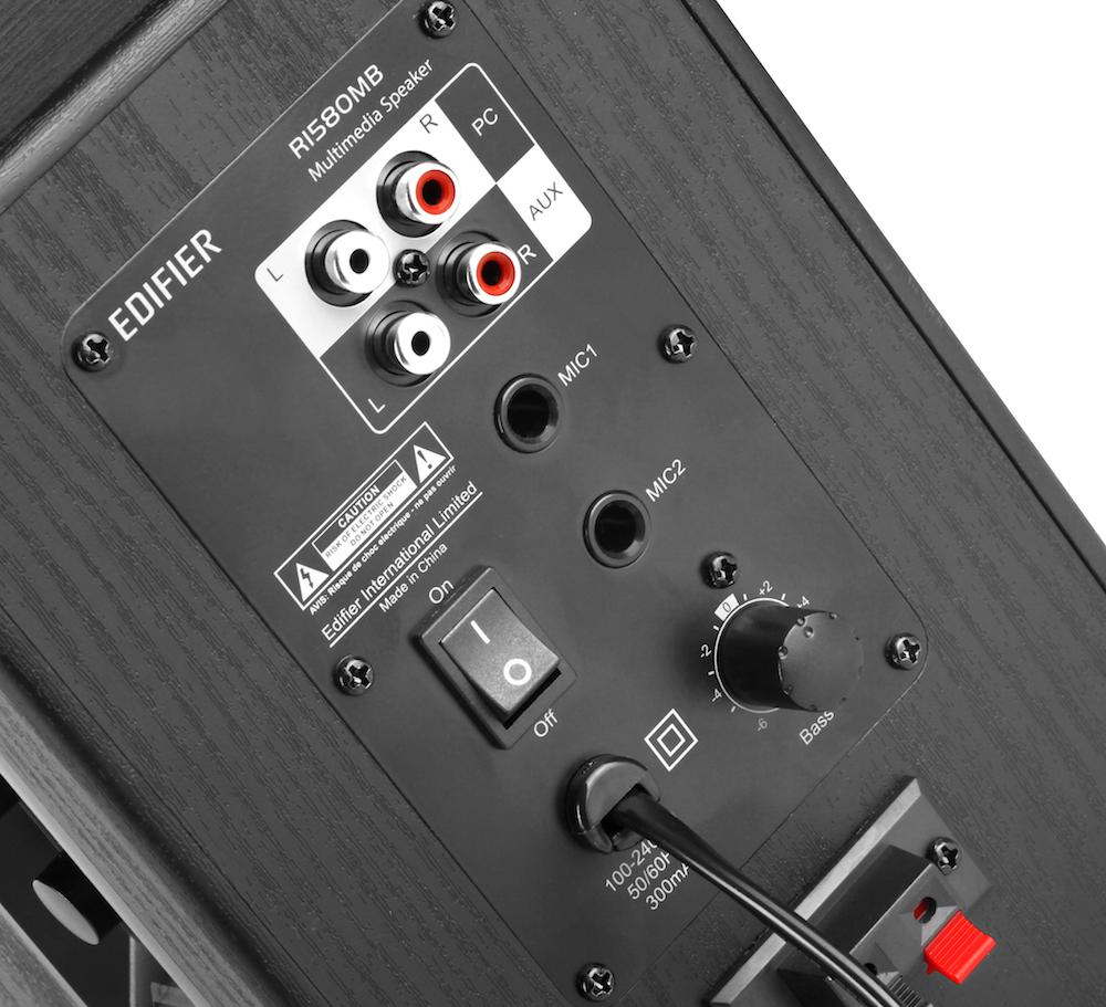 Edifier R1580MB 2.0 Speakers input output Pakistan brandtech.pk
